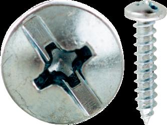 18625J MINER CUL 6 X 1-1/2 PAN HEAD SMS SLOT/PHILLIPS ZINC