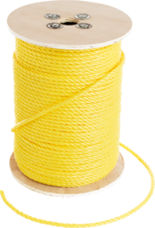 """CULLY 67802 YELLOW POLY ROPE3/16""""X600'"""