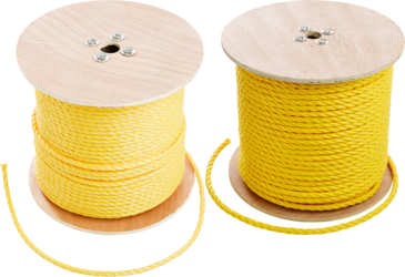 "CULLY 67830 3/8"" x 1200' Pull Rope,Yellow Polypropylene"