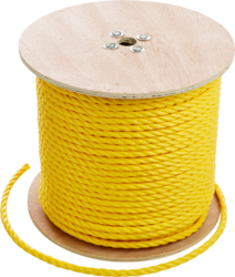 """CULLY 67842 5/8"""" x 600' Pull Rope,Yellow Polypropylene"""