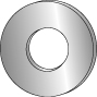 CULLY 70335J 3/8 Flat Cut Washer,Stainless Steel (100/Jar)