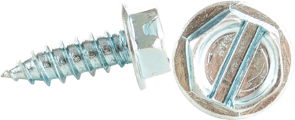 Minerallac 76808J #8 x 1/2 Inch Zinc Plated Steel Slotted Drive Hex Washer Head Sheet Metal Screw
