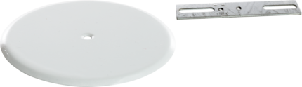"CULLY 90010 5-1/4"" Ceiling CoverPlate, White"