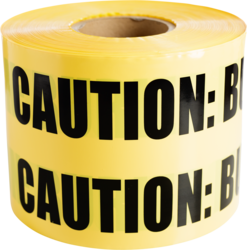 """CULLY 94616 Yellow """"BuriedElectrical Line"""" Tape, 6"""" x 1000'"""